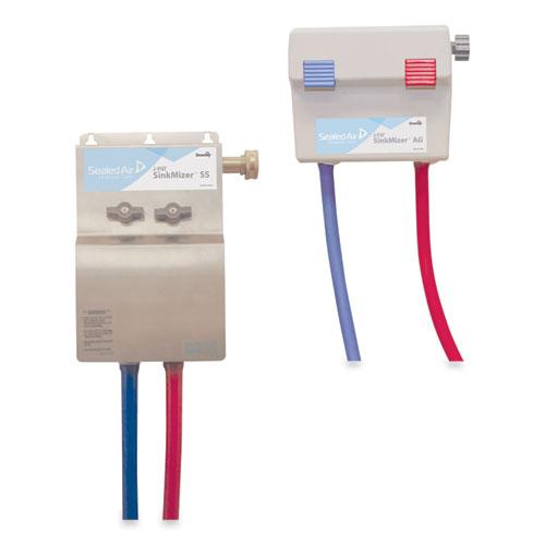 Diversey™ SinkMizer Sink Filling System (Hanging Bag), (2) 2.5 gal, 11.5 x 7.5 x 14, Stainless Steel