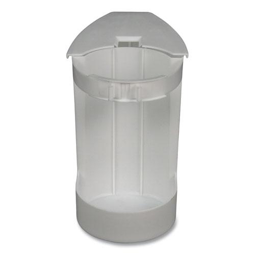 "Super Toilet Bowl Caddy w/Brush, 4w x 8d, 6"" Long, Plastic"