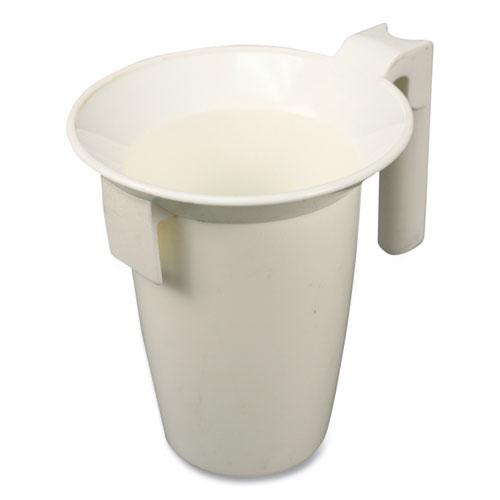 "Value-Plus Toilet Bowl Caddy, Plastic, 16""h x 4.37"" dia, White"
