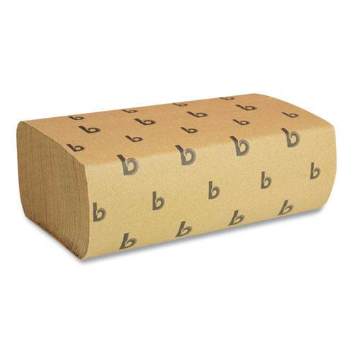 Boardwalk® Multifold Paper Towels, Natural, 9 x 9 9/20, 250/Pack, 16 Packs/Carton