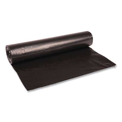 "Boardwalk® Low Density Repro Can Liners, 45 gal, 1.2 mil, 40"" x 46"", Black, 10 Bags/Roll, 10 Rolls/Carton"