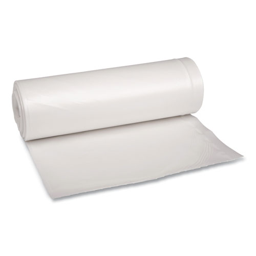 """Boardwalk® Low Density Repro Can Liners, 60 gal, 1.75 mil, 38"""" x 58"""", Clear, 10 Bags/Roll, 10 Rolls/Carton"""
