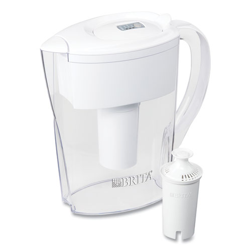 Space Saver Water Filter Pitcher, 48 oz, 6 Cups