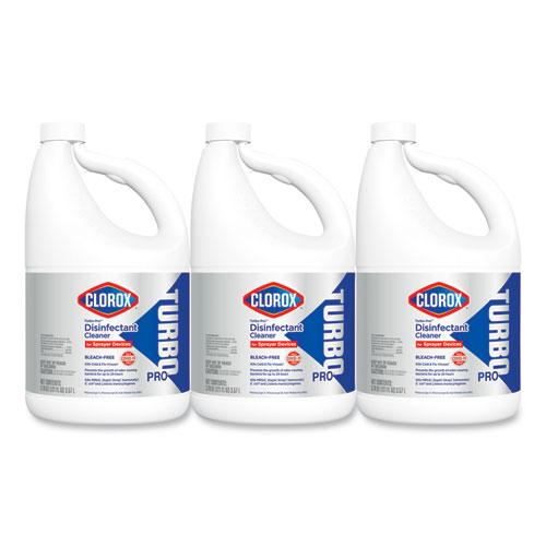 Clorox® Turbo Pro Disinfectant Cleaner for Sprayer Devices, 121 oz Bottle, 3/Carton