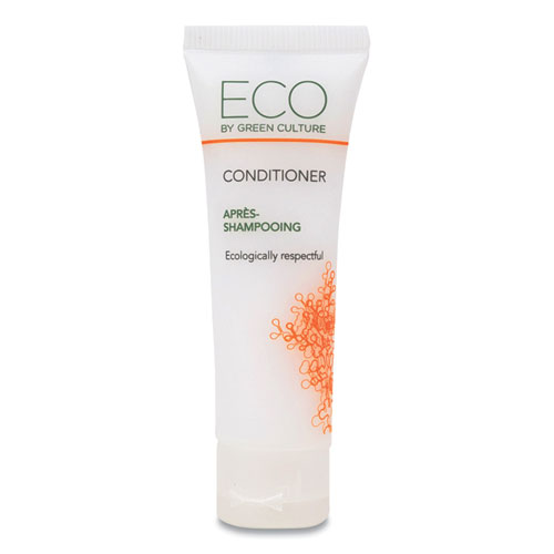Eco By Green Culture Conditioner, Clean Scent, 30 mL, 288/Carton