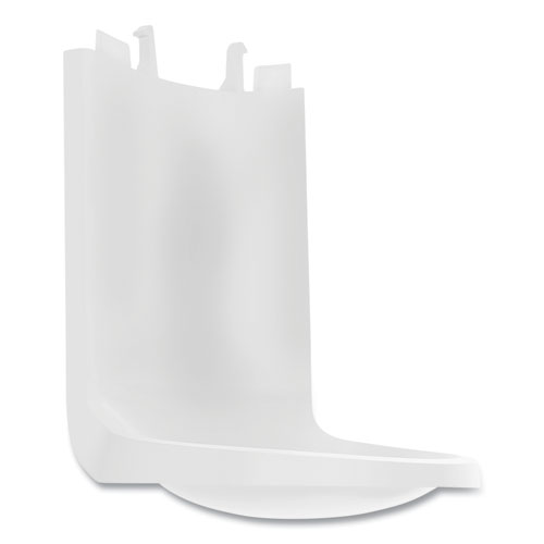 Shield Floor and Wall Protector Attachment for ES and CS Hand Sanitizer Dispensers, 4.68 x 5.98 x 3.86, White