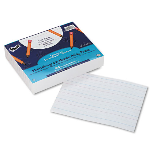 "Multi-Program Handwriting Paper, 16 lb, 1 1/8"" Long Rule, One-Sided, 8 x 10.5, 500/Pack 