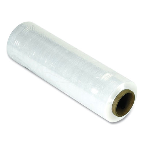 """Cast Hand Stretch Film, 15"""" x 1,500 ft, 90-Gauge, Clear, 4/Pack"""
