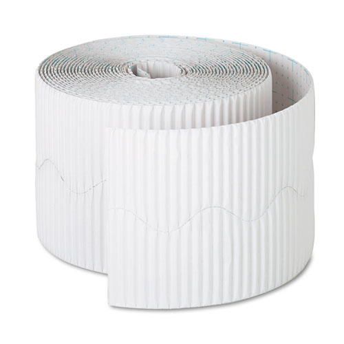 "Bordette Decorative Border, 2 1/4"" x 50' Roll, White 