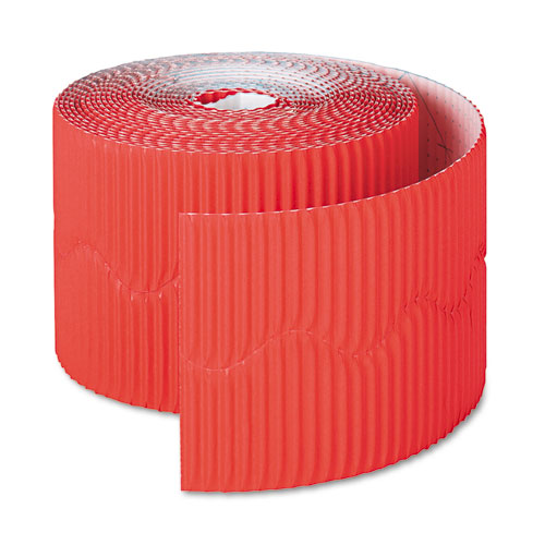 "Bordette Decorative Border, 2 1/4"" x 50' Roll, Flame Red 