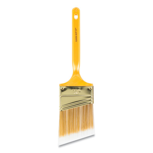 "Softip Paint Brush, Angled Profile, 2.5"" Wide, Plastic Kaiser Handle"