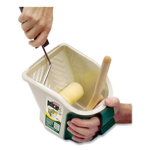 Pelican Hand-Held 1 Qt. Pail, 7 x 8.5 x 6.5, Beige/Green