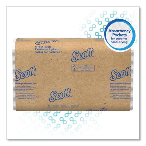 Scott® Essential C-Fold Towels, Absorbency Pockets,10 1/8x13 3/20,White,200/PK,12 PK/CT