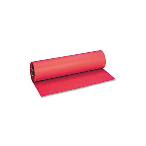 Decorol Flame Retardant Art Rolls, 40lb, 36 x 1000ft, Cherry Red