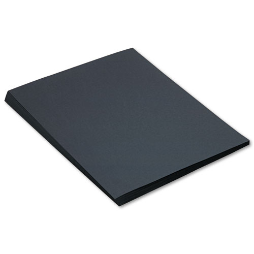 Construction Paper, 58lb, 18 x 24, Black, 50/Pack | by Plexsupply
