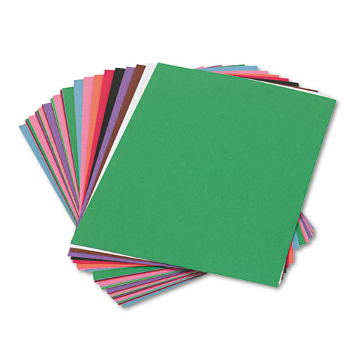 Construction Paper, 58lb, 9 x 12, Assorted, 50/Pack | by Plexsupply