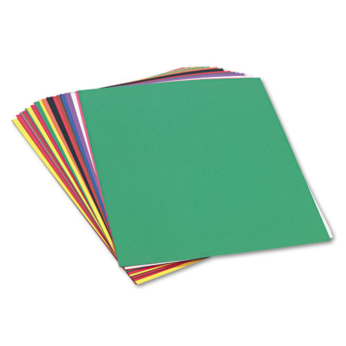 SunWorks® Construction Paper, 58 lbs., 18 x 24, Assorted, 50 Sheets/Pack