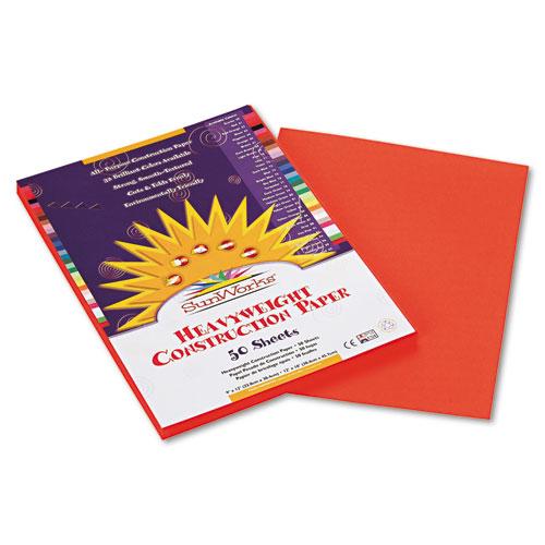SunWorks® Construction Paper, 58 lbs., 9 x 12, Orange, 50 Sheets/Pack
