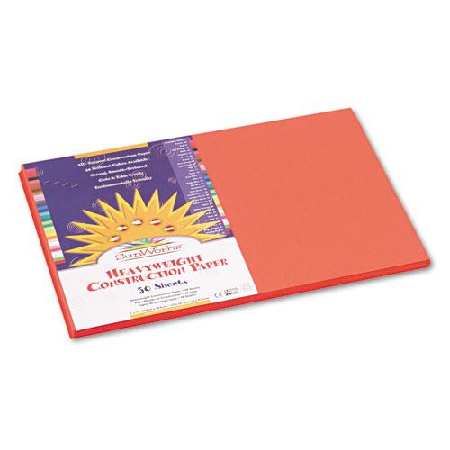 SunWorks® Construction Paper, 58 lbs., 12 x 18, Orange, 50 Sheets/Pack