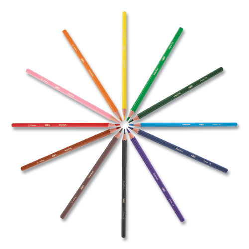 BIC® Kids Coloring Combo Pack in Durable Case, 12 Each: Colored Pencils, Crayons, Markers