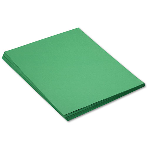 SunWorks® Construction Paper, 58 lbs., 18 x 24, Holiday Green, 50 Sheets/Pack