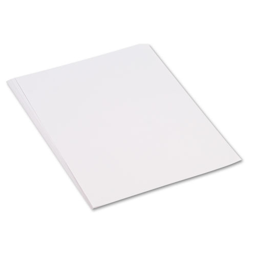 Construction Paper, 58lb, 18 x 24, White, 50/Pack | by Plexsupply