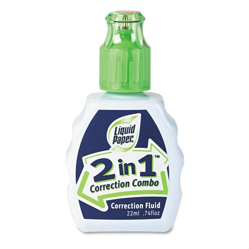 2-In-1 Correction Combo, 22 ml Bottle, White