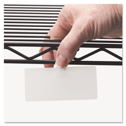 Wire Rack Shelf Tag, Side Load, 3-1/2 x 1-1/2, White, 10/Pack