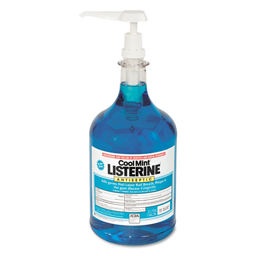 Listerine Cool Mint Mouthwash, 1 Gallon Pump | by Plexsupply