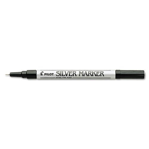Creative Art & Crafts Marker, Extra-Fine Brush Tip, Silver | by Plexsupply