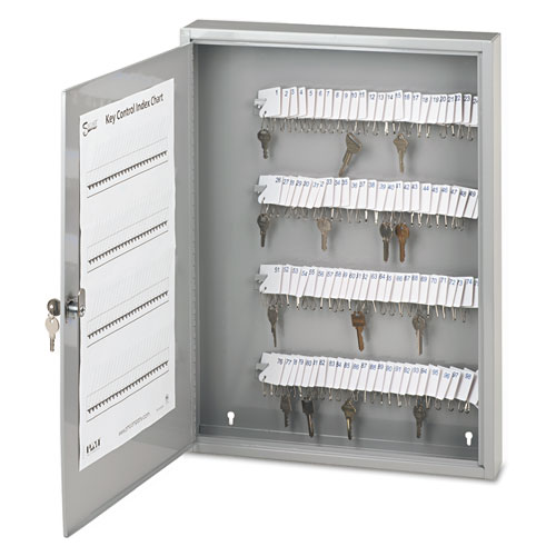 Locking Key Cabinet, 100-Key, Steel, Gray, 16 1/2 x 3 x 22 1/2 04984