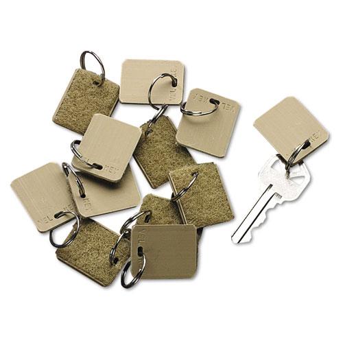 Extra Blank Hook  Loop Tags, Security-Backed, 1 1/8 x 1, Beige, 12/Pack