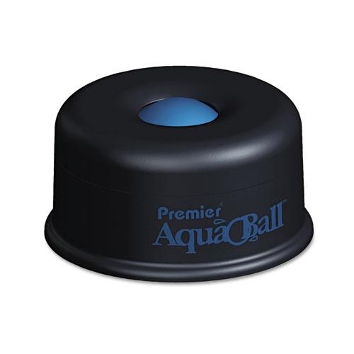 AquaBall Floating Ball Envelope Moistener, 1 1/4 x 1 1/4 x 5 3/8, Black, Blue