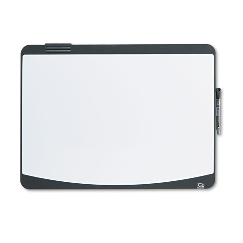 Tack & Write Board, 23 1/2 x 17 1/2, Black/White Surface, Black Frame | by Plexsupply
