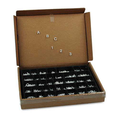 "Quartet® Character Sets, Pin, White, 1/2""h, 300/Set"