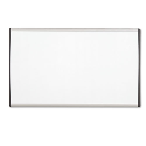 Magnetic Dry-Erase Board, Steel, 18 x 30, White Surface, Silver Aluminum Frame | by Plexsupply