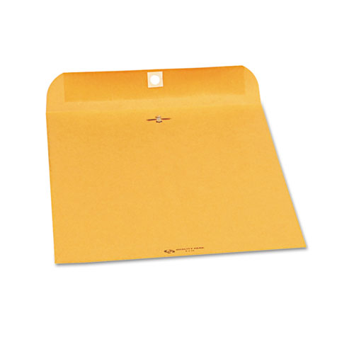 Clasp Envelope, #90, Cheese Blade Flap, Clasp/Gummed Closure, 9 x 12, Brown Kraft, 250/Carton | by Plexsupply