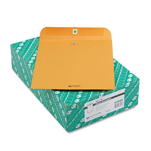 Quality Park™ Clasp Envelope, #97, Cheese Blade Flap, Clasp/Gummed Closure, 10 x 13, Brown Kraft, 100/Box