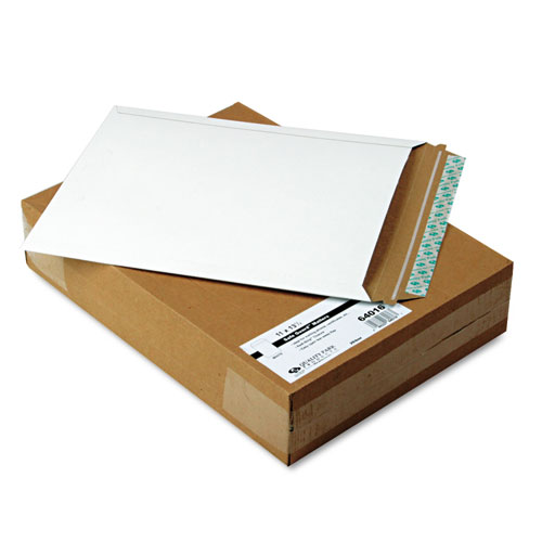 Extra-Rigid Photo/Document Mailer, Cheese Blade Flap, Self-Adhesive Closure, 11 x 13.5, White, 25/Box | by Plexsupply