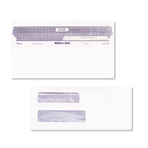 Reveal-N-Seal Envelope, #8 5/8, Commercial Flap, Self-Adhesive Closure, 3.63 x 8.63, White, 500/Box