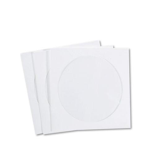 CD/DVD Sleeves, Moisture-Resistant TYVEK Material, 100/Box | by Plexsupply