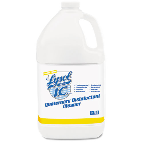 Quaternary Disinfectant Cleaner, 1gal Bottle, 4/Carton | by Plexsupply