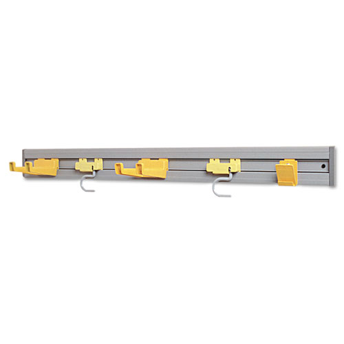 Rubbermaid® Commercial Closet Organizer/Tool Holder, 18w x 3.25d x 4.25h, Gray