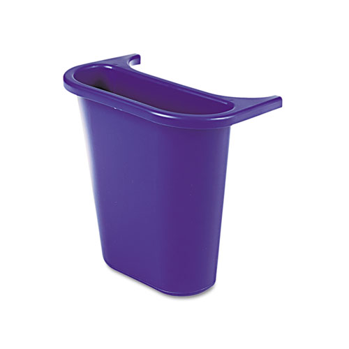 Wastebasket Recycling Side Bin, Attaches Inside or Outside, 4.75 qt, Blue | by Plexsupply