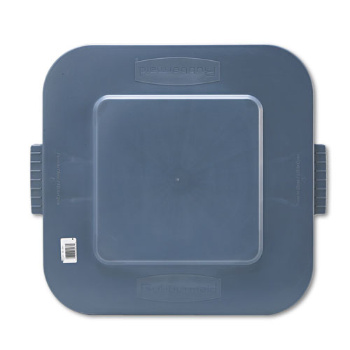 Rubbermaid® Commercial Square Brute Lid, 24 x 22 x 1 1/4, Gray