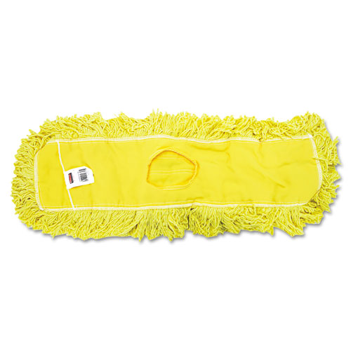 "Trapper Commercial Dust Mop, Looped-end Launderable, 5"" x 24"", Yellow 