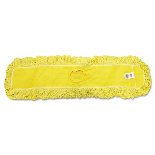"Trapper Commercial Dust Mop, Looped-end Launderable, 5"" x 36"", Yellow 