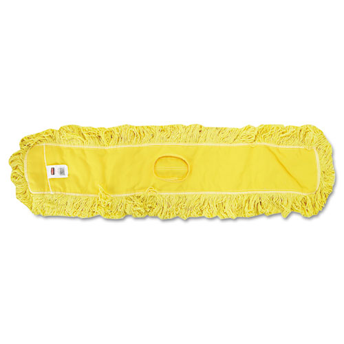 """Rubbermaid® Commercial Trapper Commercial Dust Mop, Looped-end Launderable, 5"""" x 48"""", Yellow"""