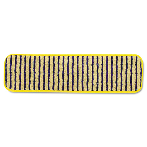 "Rubbermaid® Commercial Microfiber Scrubber Pad, Vertical Polyprolene Stripes, 18"", Yellow, 6/Carton"