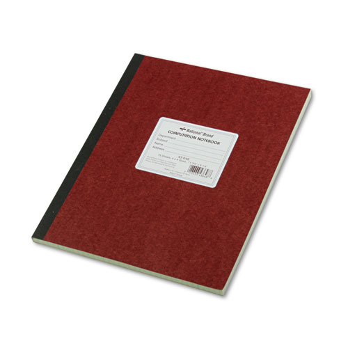 Computation Notebook, 4 sq/in Quadrille Rule, 11.75 x 9.25, Green Tint, 75 Sheets | by Plexsupply